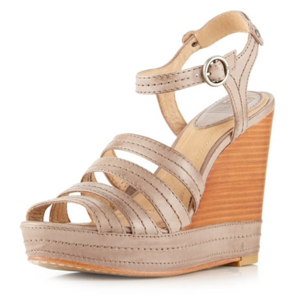 Frye Shoes - Frye | Stitch Leather Wedge Sandals